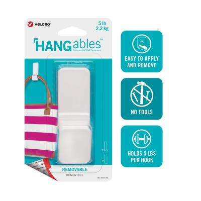 HANGables Large Removable Hook in White