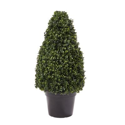 36 in. Artificial Boxwood Tower Style Topiary