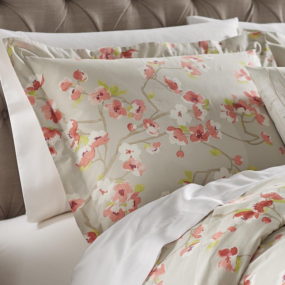 Hana Grey/Pink Euro Pillow Sham
