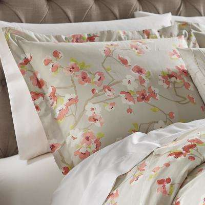 Hana Grey/Pink Standard Pillow Sham