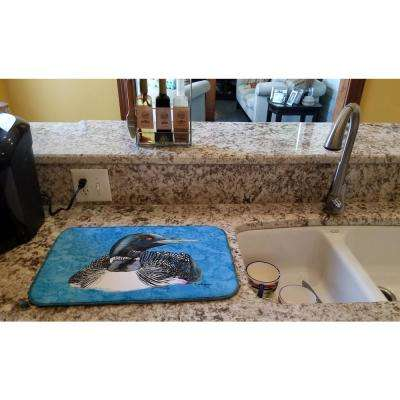14 in. x 21 in. Multicolor Loon Dish Drying Mat