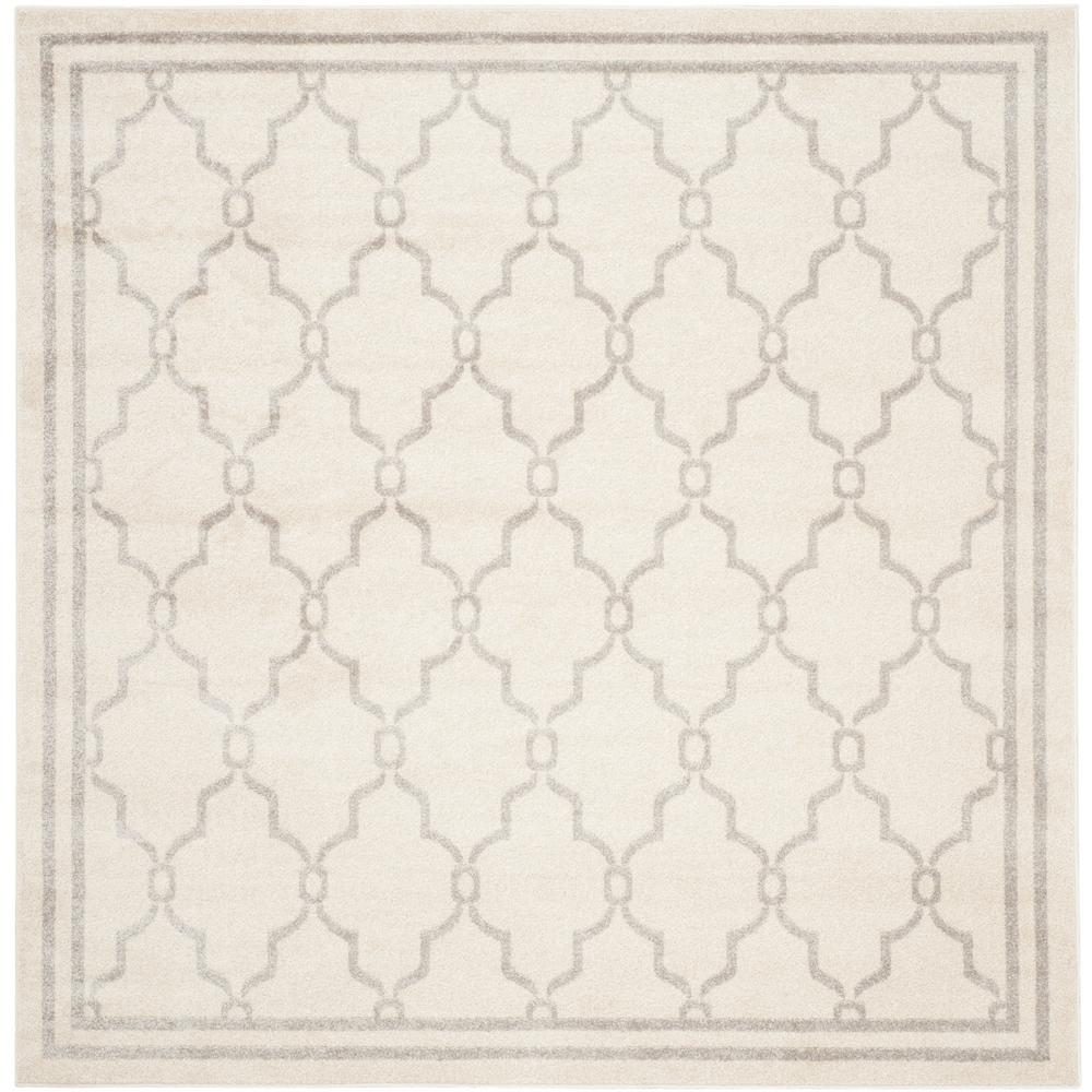 Amherst Ivory/Light Gray 5 ft. x 5 ft. Indoor/Outdoor Square Area