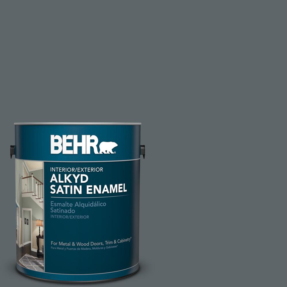 1 gal. #N450-6 Binary Star Satin Enamel Alkyd Interior/Exterior Paint