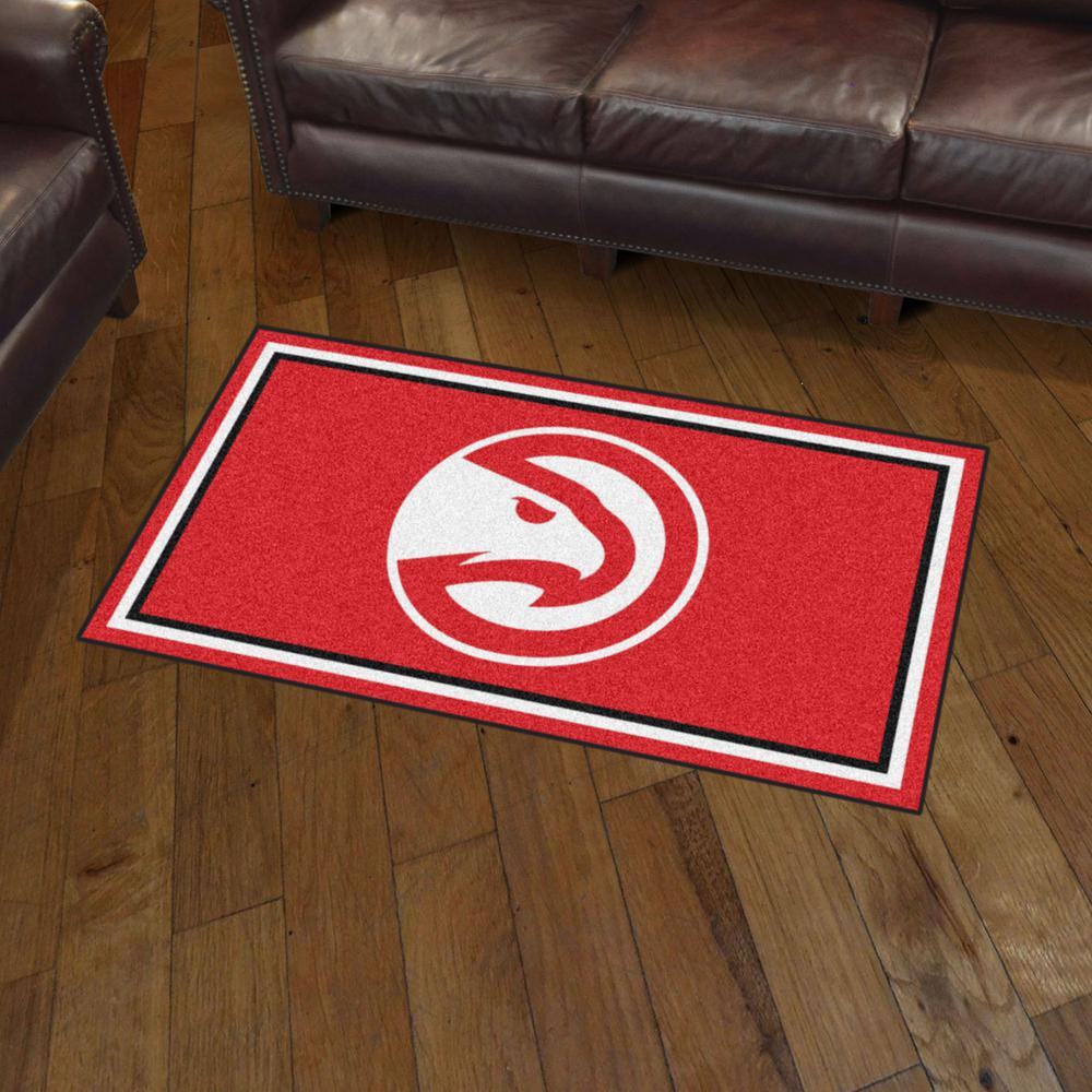 FANMATS NBA Atlanta Hawks Nylon Face Ultimat Rug