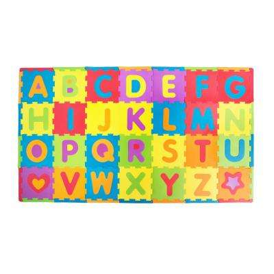 "Multicolor Alphabet Play Mat 12""x12"" x 28-pcs"