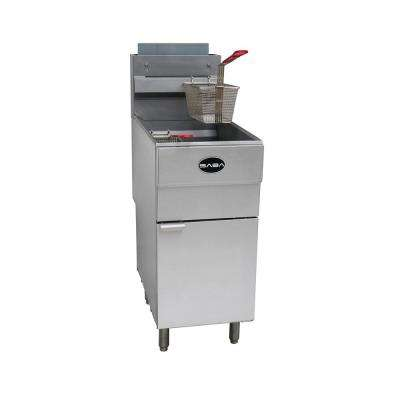 16 in. 45 lb. Capacity Liquid Propane Commercial Deep Fryer