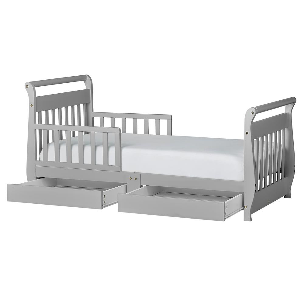 Super Dream On Me Pebble Grey Toddler Adjustable Sleigh Bed With Bralicious Painted Fabric Chair Ideas Braliciousco