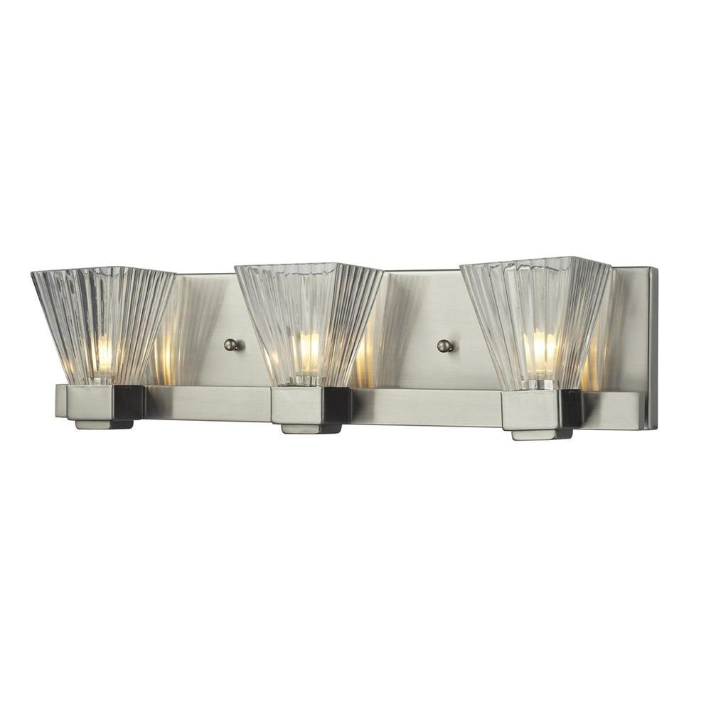 Filament Design Lawrence 3-Light Brushed Nickel Halogen Bath Vanity Light
