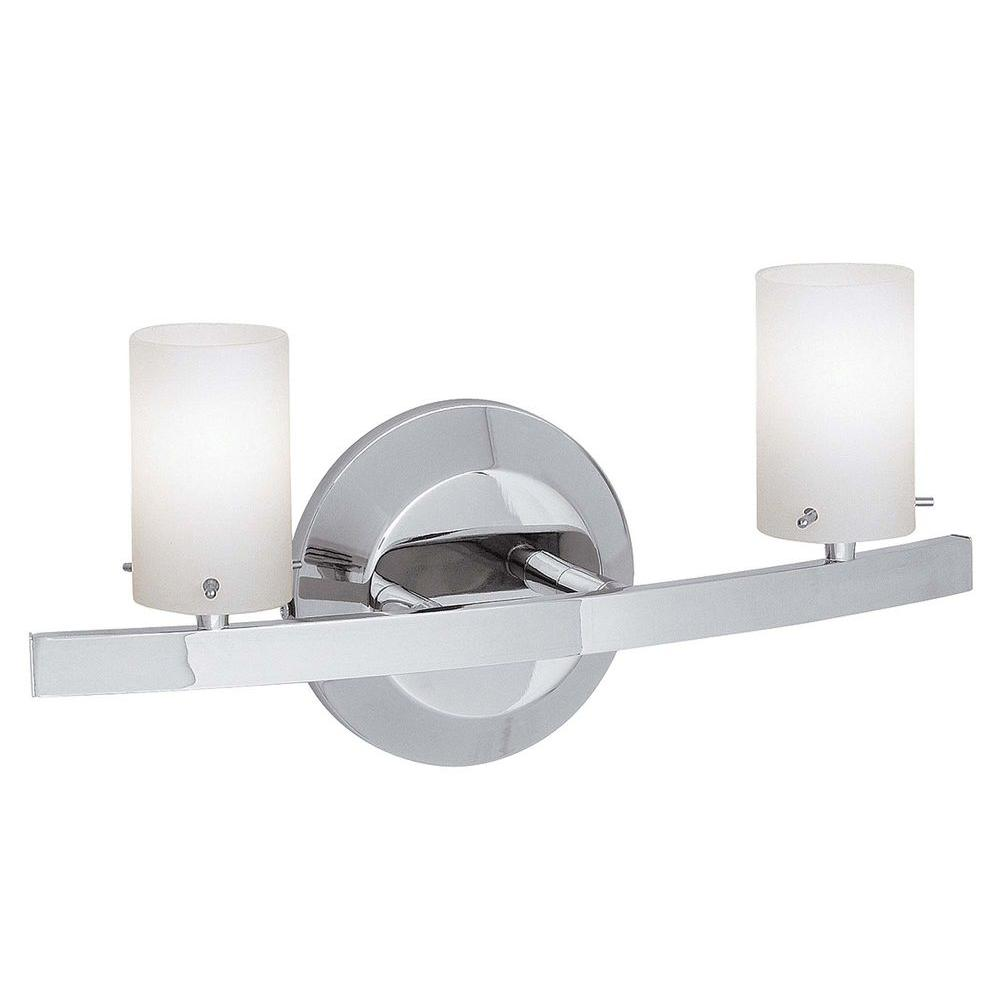 Illumine 2-Light Vanity Chrome Finish Opal Glass-DISCONTINUED