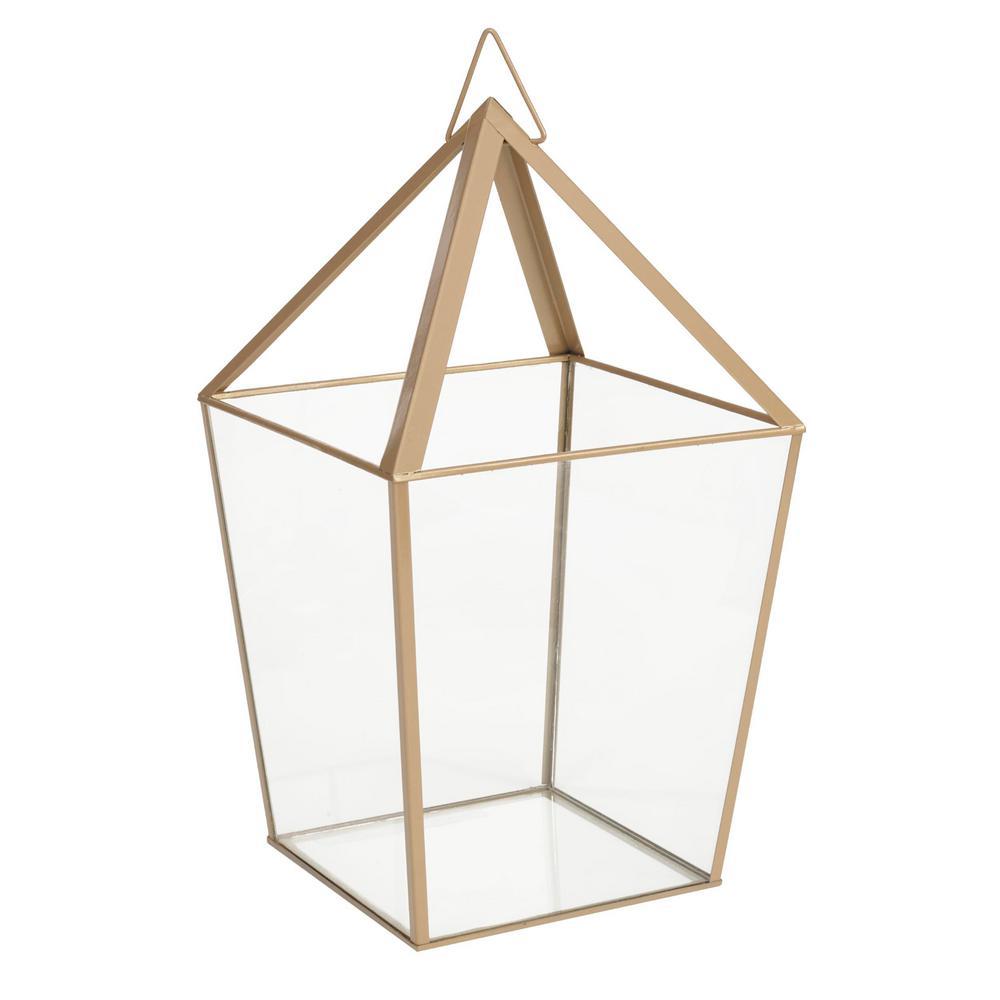 15.7 in. Metal and Glass Terrarium