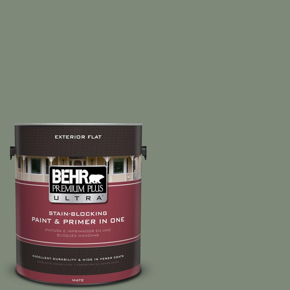 1-gal. #450F-5 Amazon Moss Flat Exterior Paint