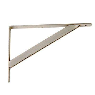 11.25 in. x 1.05 in. Brushed Nickel Shelf Bracket