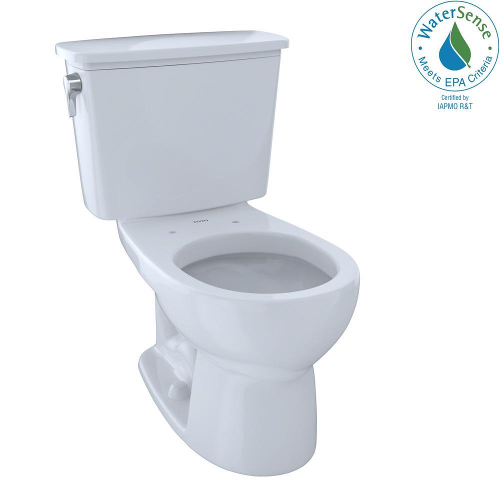 toto eco drake transitional 2 piece gpf single flush round toilet in cotton white cst743en. Black Bedroom Furniture Sets. Home Design Ideas