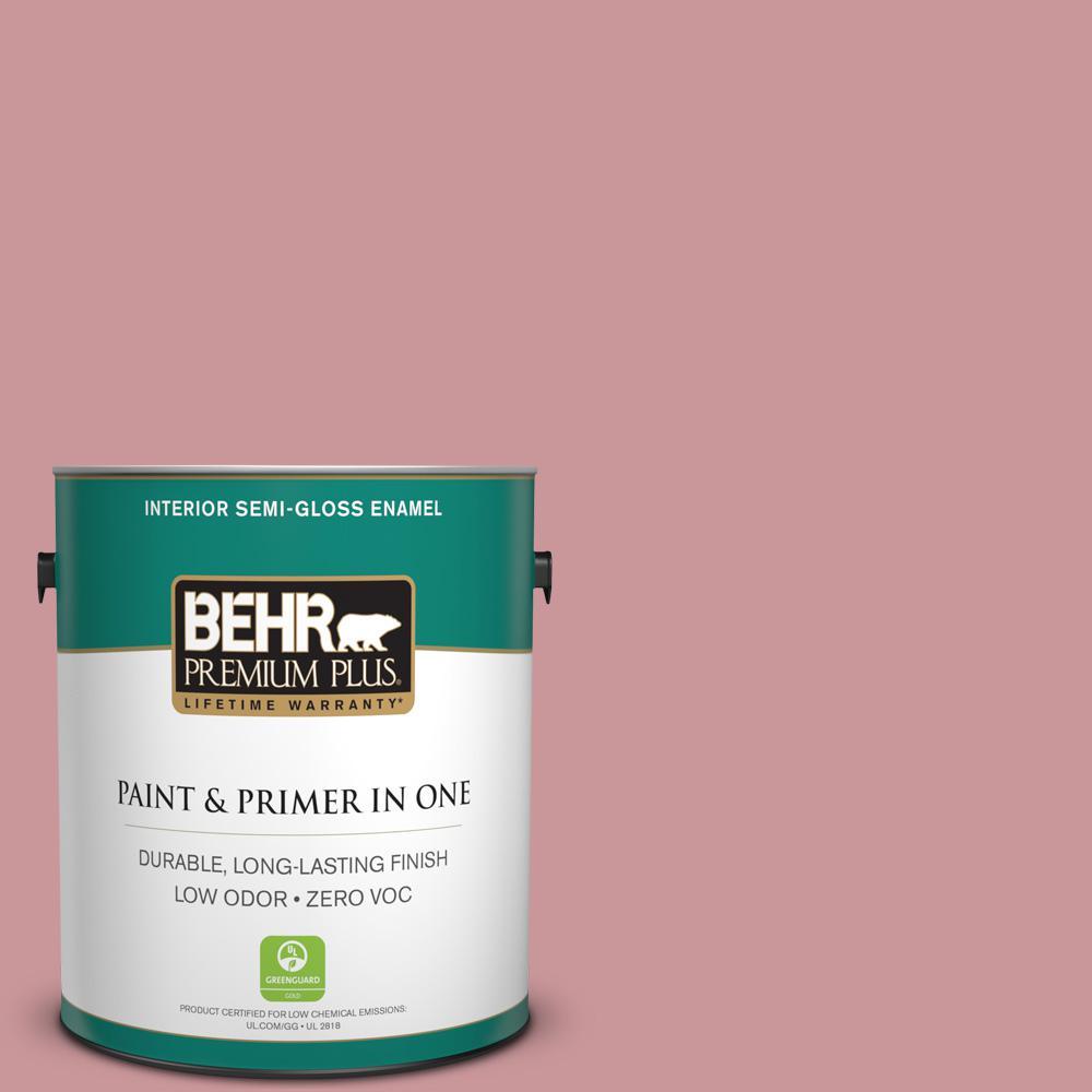 1-gal. #S140-4 Minstrel Rose Semi-Gloss Enamel Interior Paint