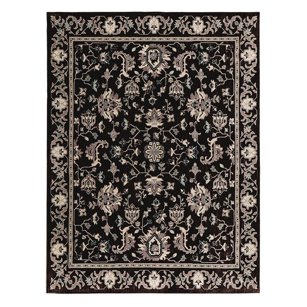 Home Decorators Collection Jackson Blue Ivory 8 Ft X 10 Ft Area Rug 509354 The Home Depot