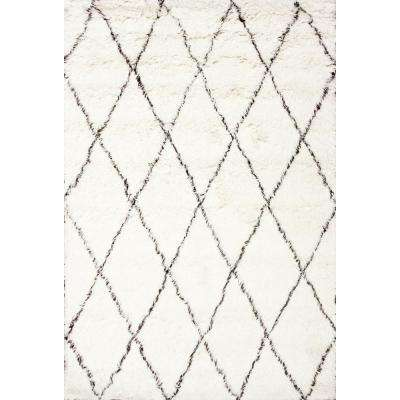 Marrakech Shag Ivory 9 ft. x 12 ft. Area Rug