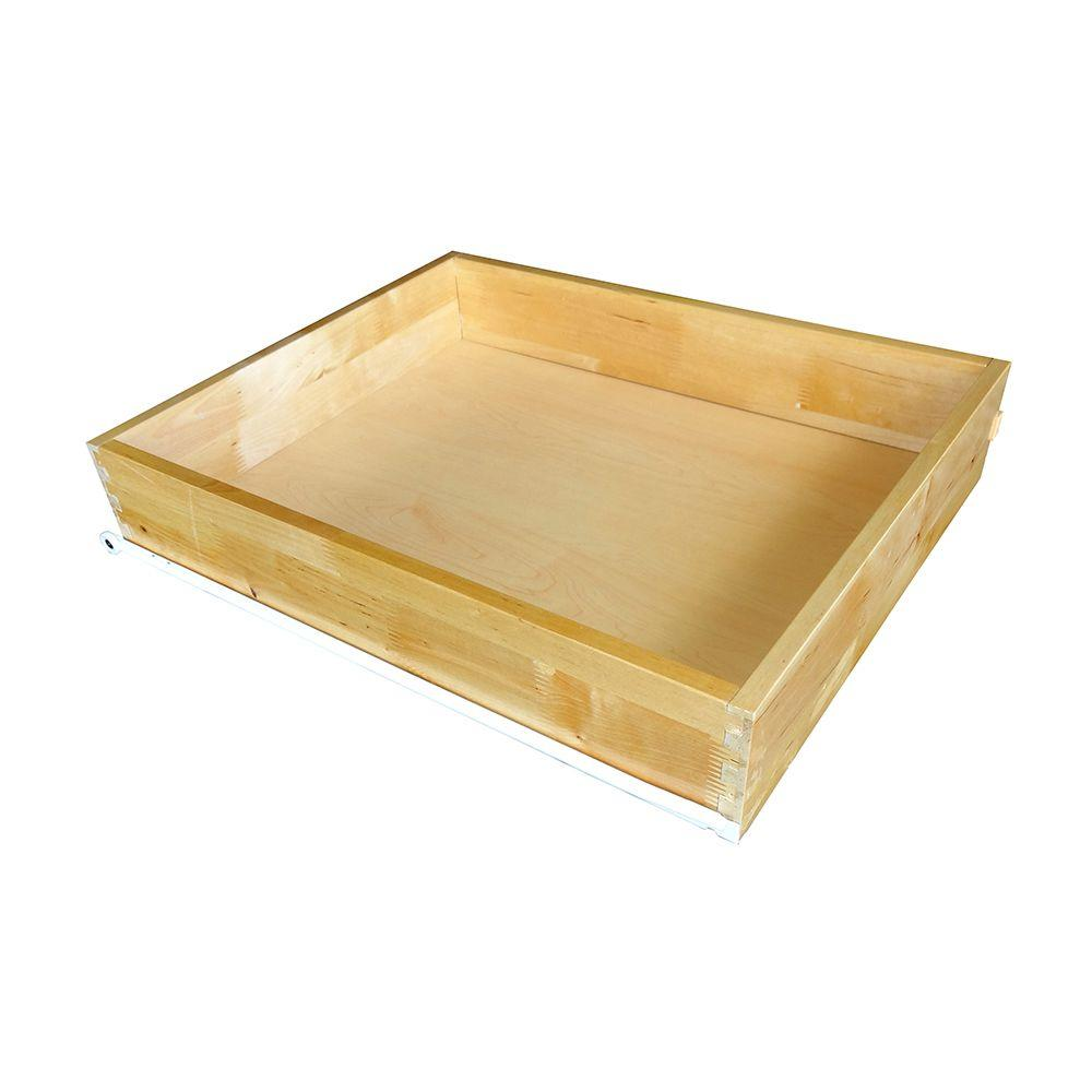 Home Decorators Collection 11x4x21 in. Roll Out Tray Kit for 15 in. Base Cabinet in Natural Birch