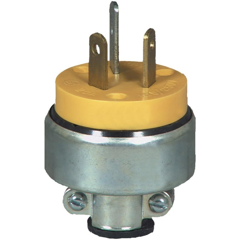 Leviton 30 Amp 125 Volt 2 Pole Angle Travel Trailer Plug Black R50 Whitehead Industrial Hardware Circuit Breaker 1 120 10 20p Power