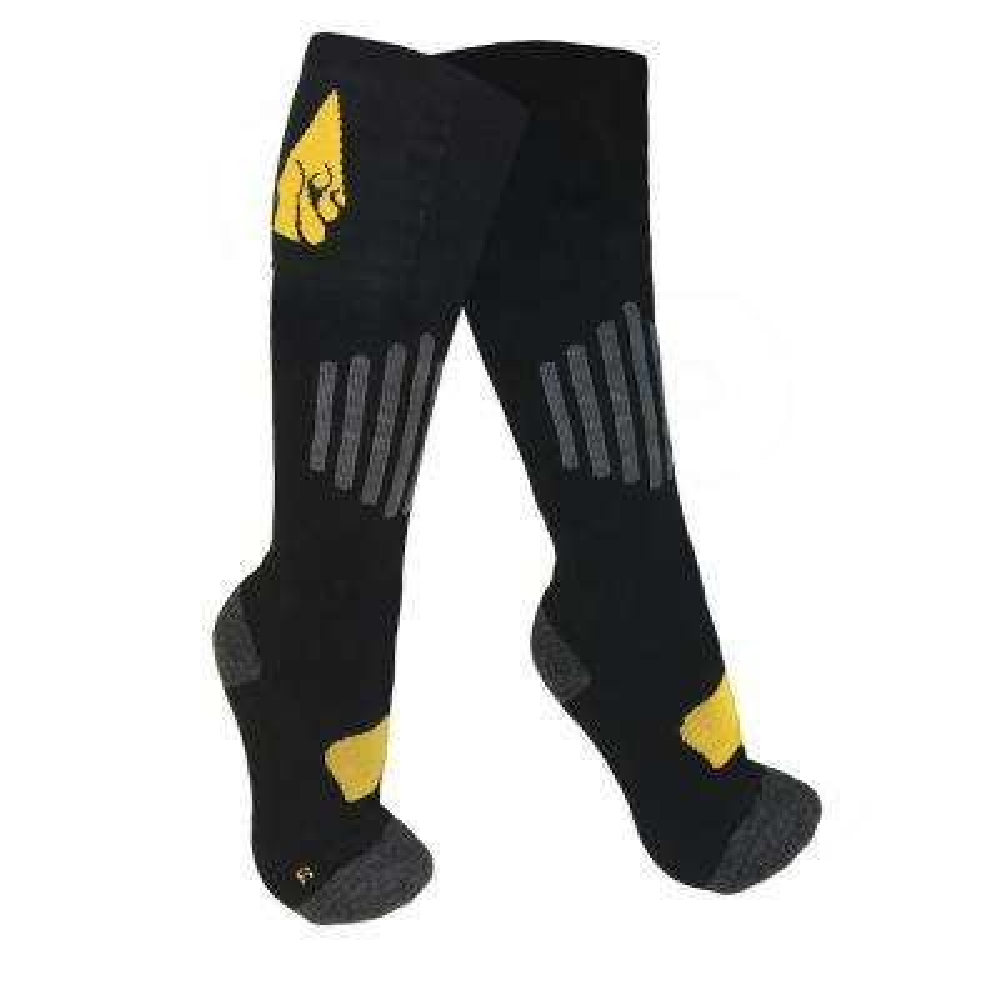 2X-Large Black Cotton AA Heated Sock
