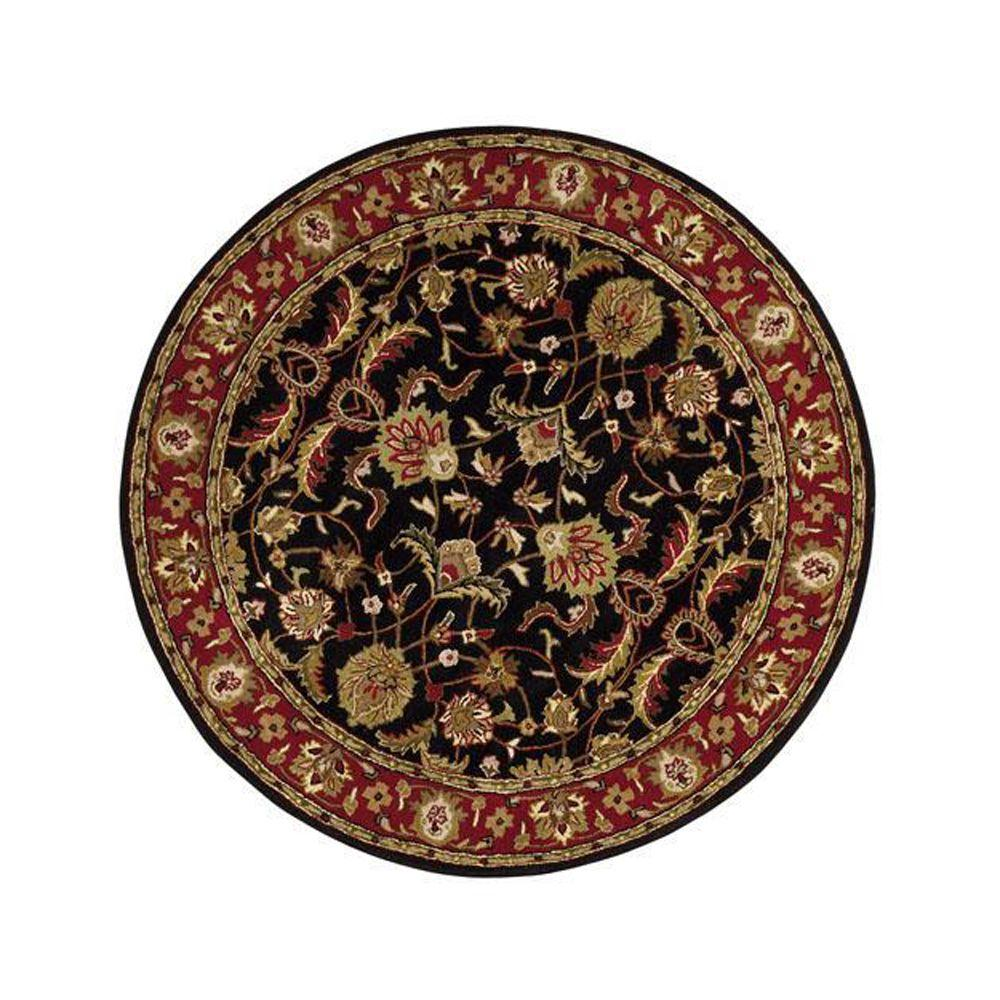 Home Decorators Collection Constantine Black 3 Ft 9 In Round Area Rug 3151942210 The Depot