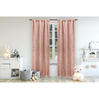Danielle 38 in. W x 84 in. L Polyester Window Panel in Pretty Pink