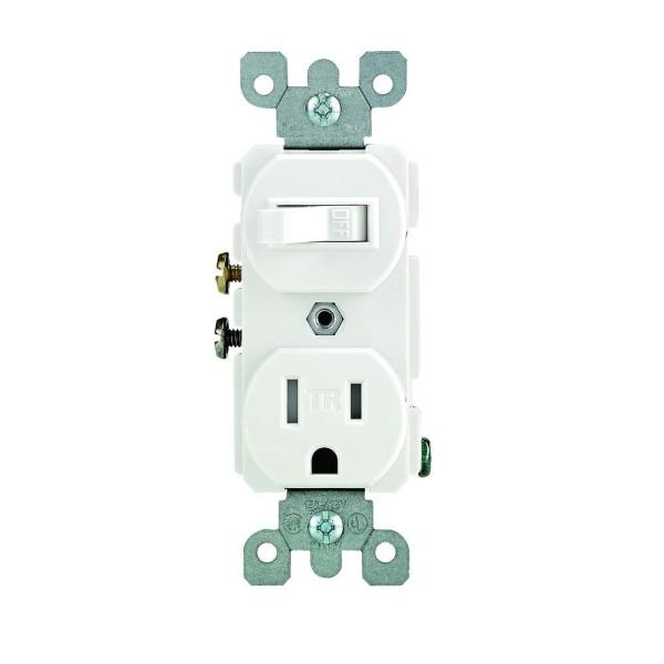 Switch and Tamper-Resistant Receptacle White