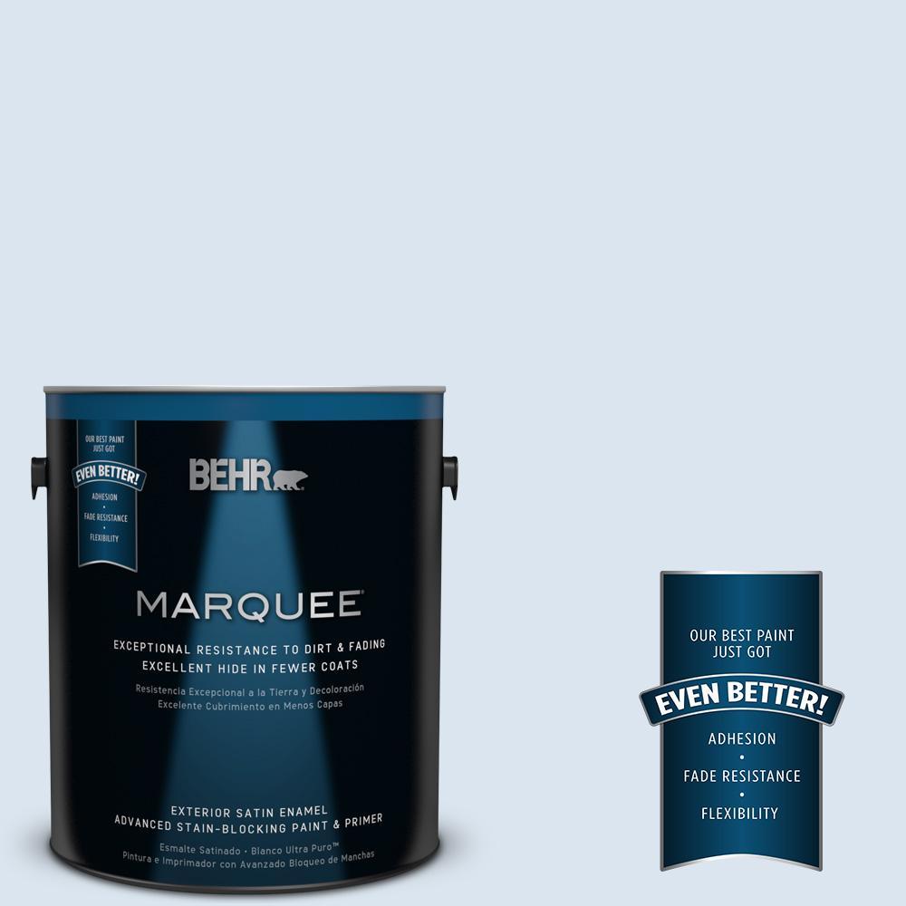BEHR MARQUEE 1-gal. #570A-2 Geyser Satin Enamel Exterior Paint