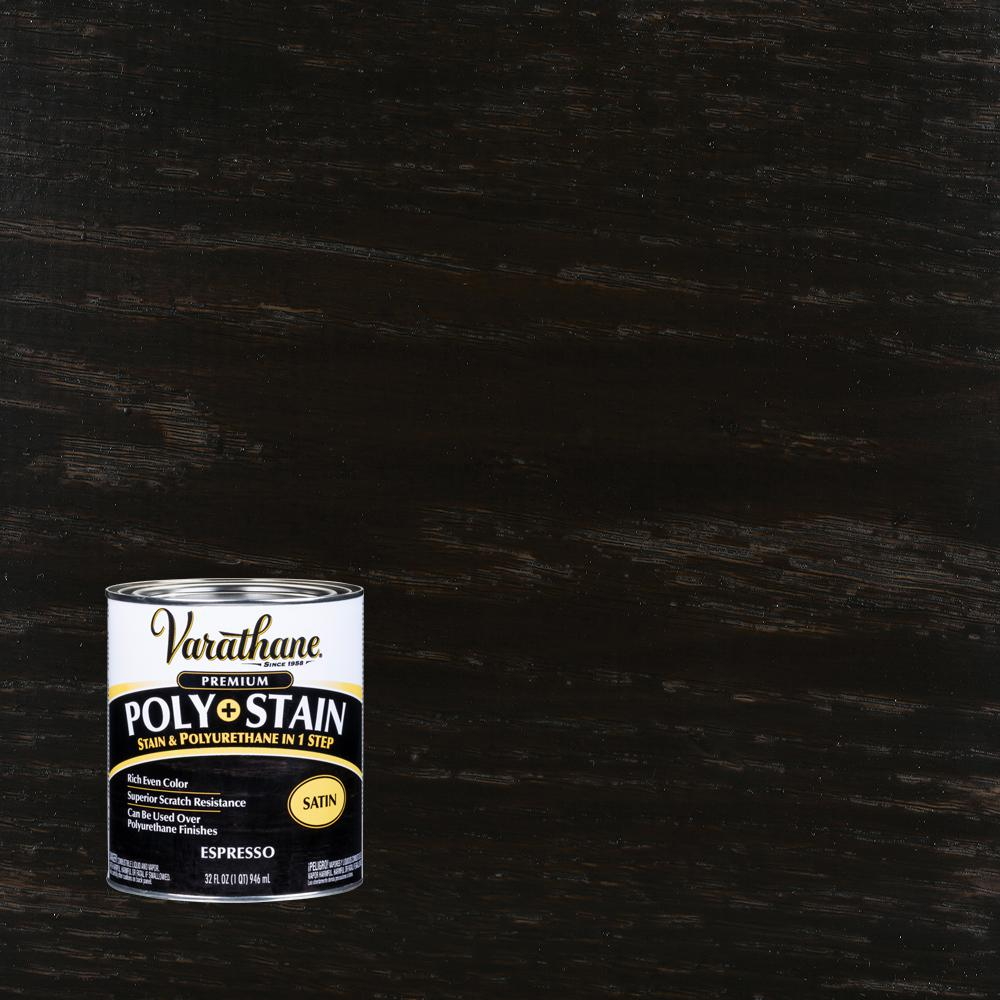 Varathane 1 qt. Espresso Satin Oil-Based Interior Stain and Polyurethane