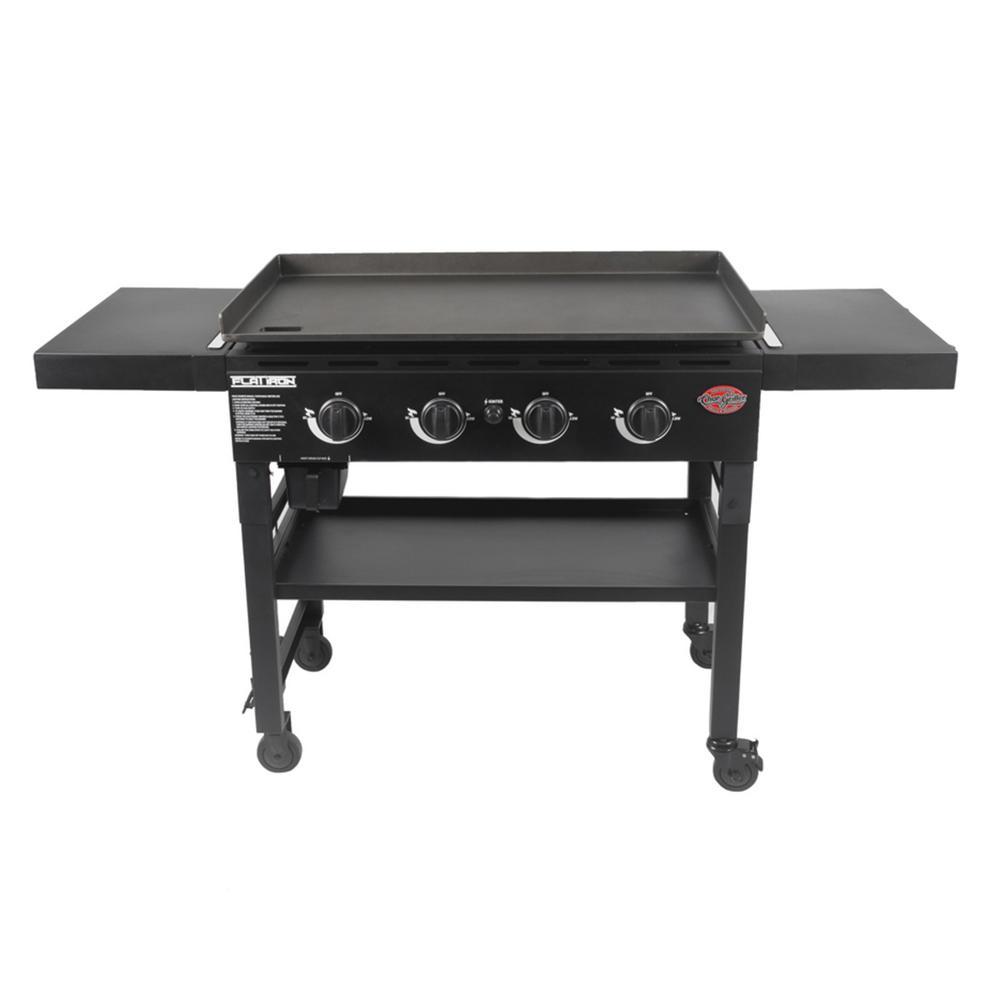 4-Burner Propane Gas Griddle in Black