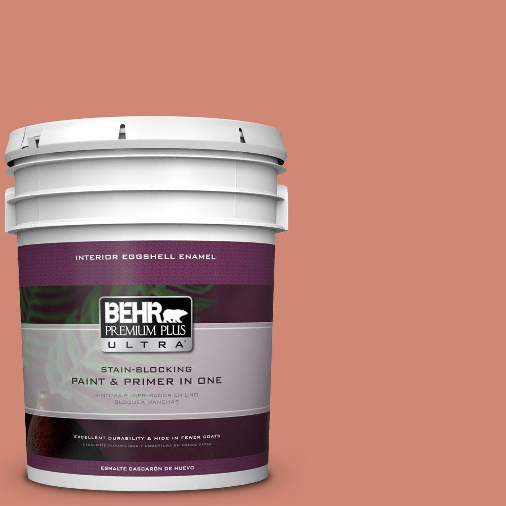 5 gal. #HDC-WR16-02 Rosy Copper Eggshell Enamel Interior Paint