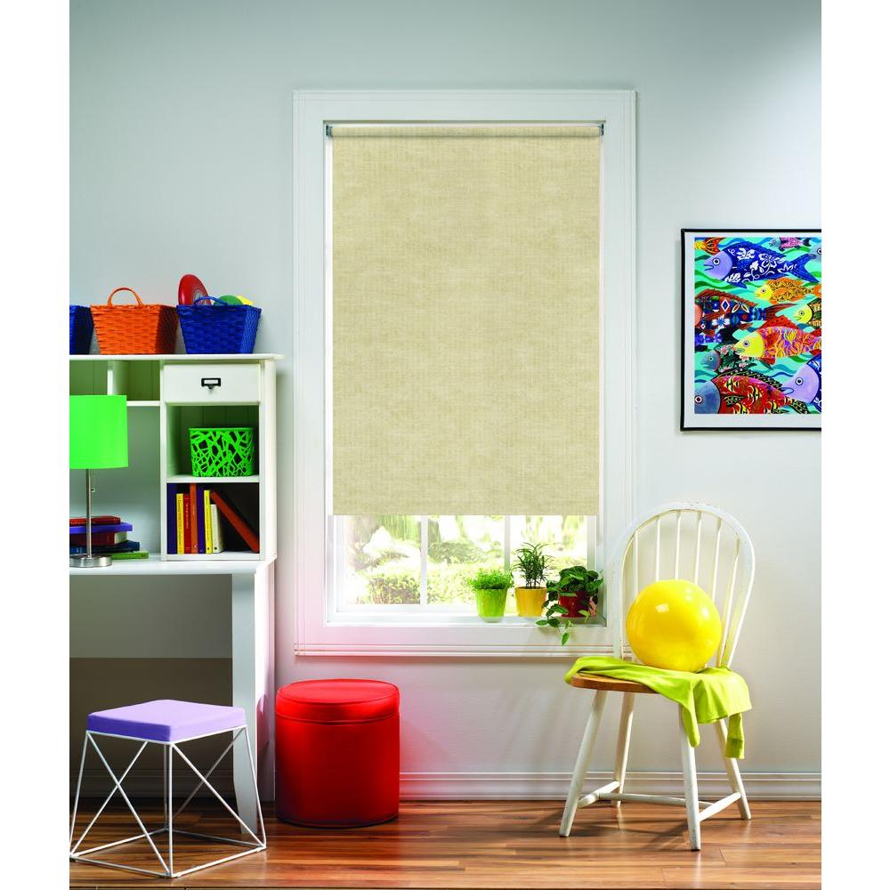 Panama Natural Light Filtering Cordless Roller Shade -73.25 in. W x