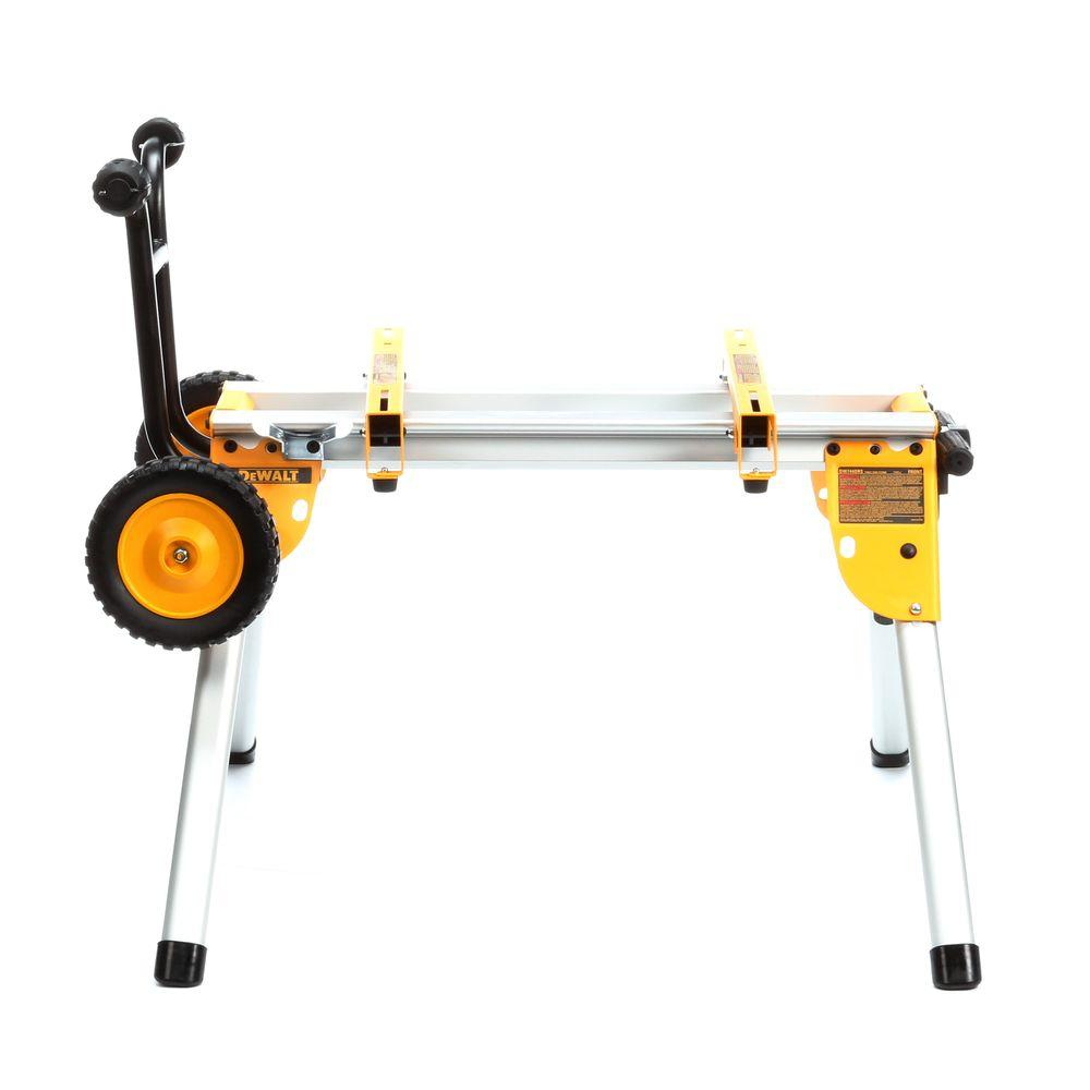 Rolling Table Saw Stand Heavy Duty Garage Outdoor Wheel