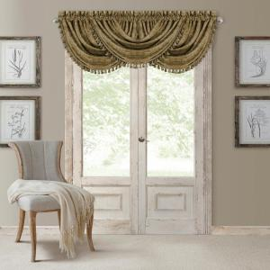 Antonia 52 inch W x 36 inch L, Polyester Blackout Rod Pocket Window Valance in Antique Gold by