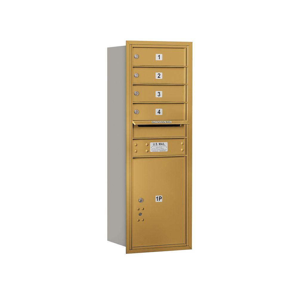 3700 Series 41 in. 11 Door High Unit Gold Private Rear