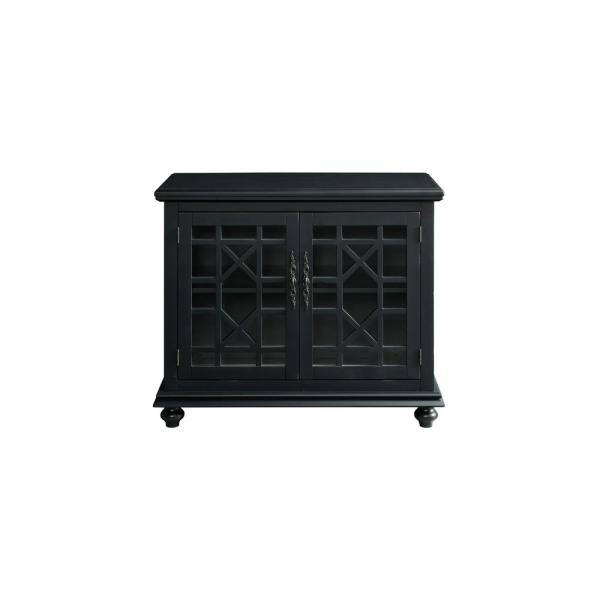 Cassandra Black Small Spaces TV Stand