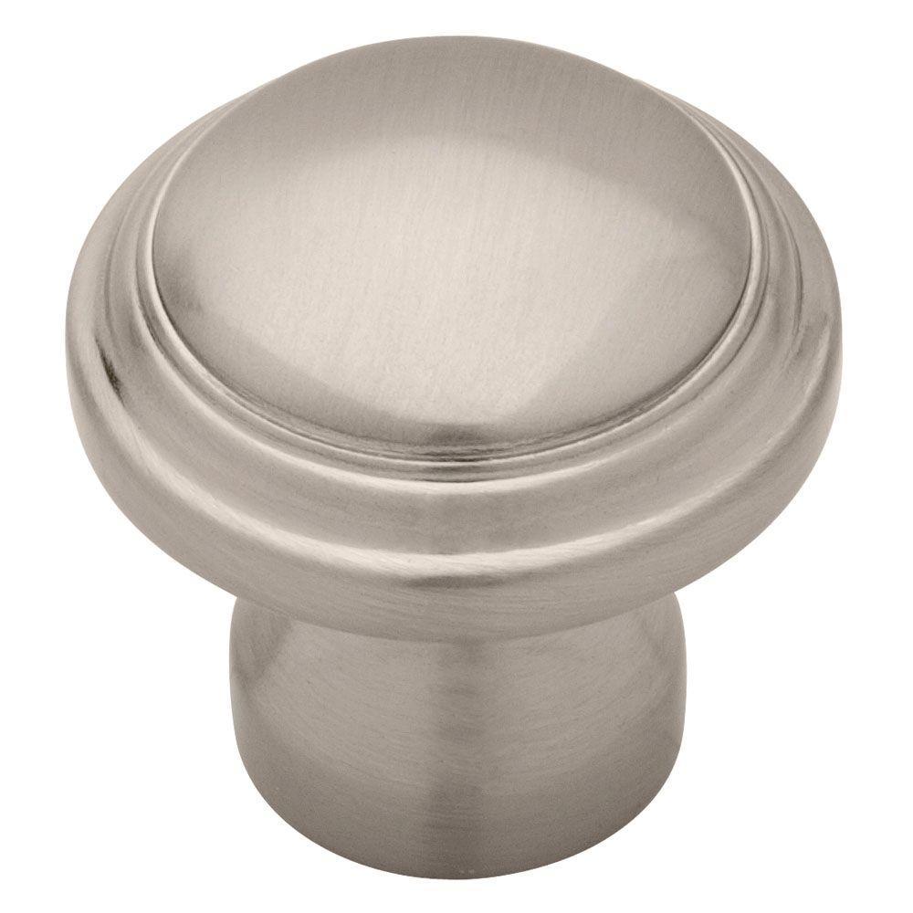 Liberty 1-1/4 in. Satin Nickel Raised Panel Cabinet Knob