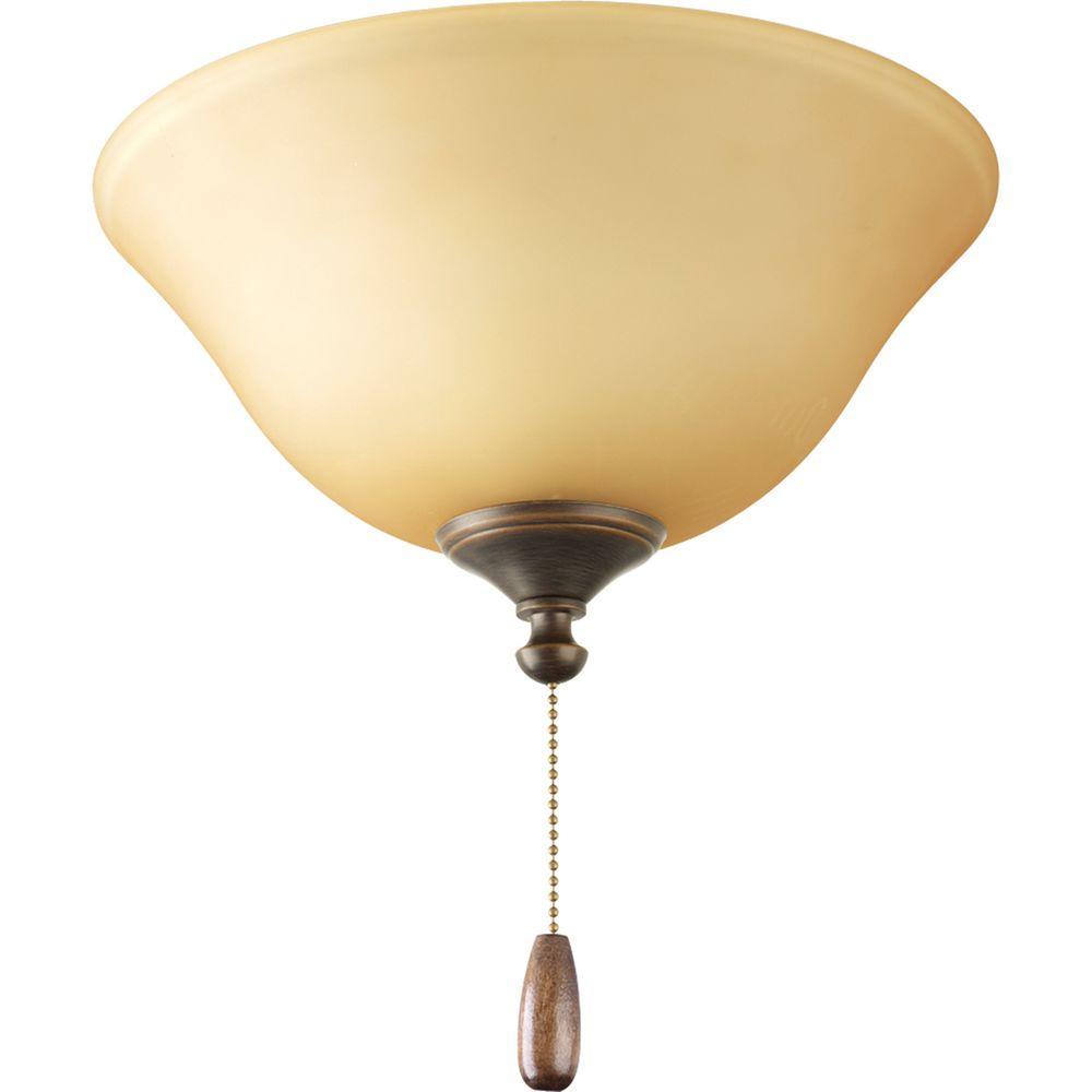 Progress Lighting AirPro 3-Light Antique Bronze Ceiling Fan Light