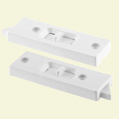 White Vinyl Vertical Hung Sliding Window Lock (2-pack)