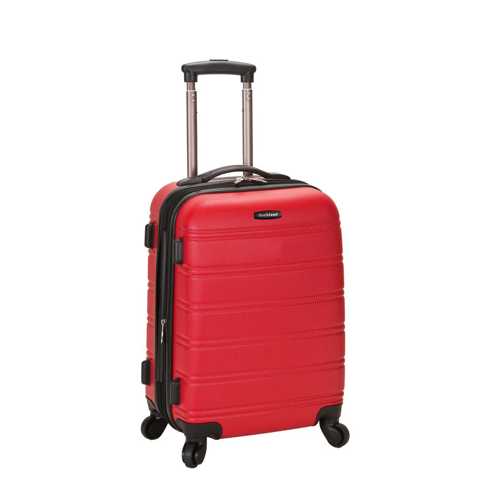 Melbourne 20 in. Expandable Carry on Hardside Spinner Luggage, Red