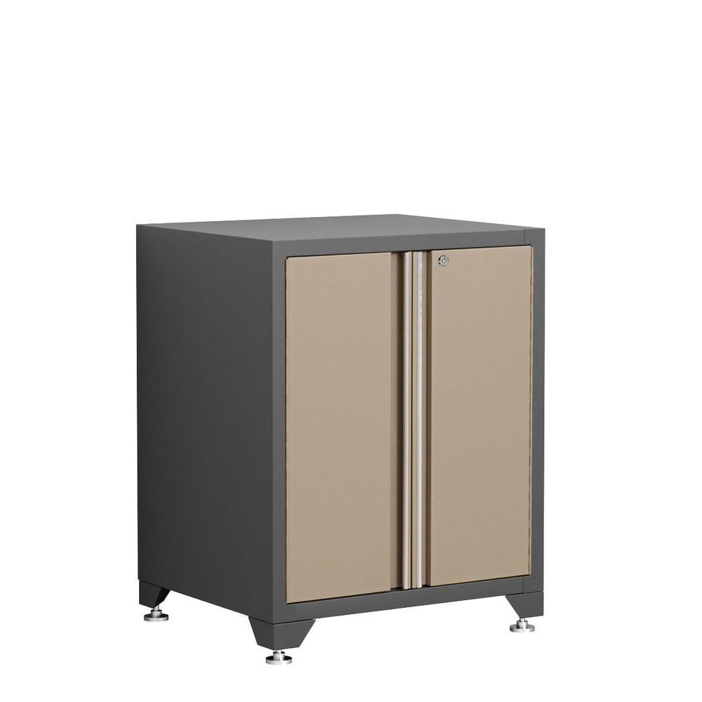 Pro Series 35 in. H x 28 in. W x 24 in. D 2-Door 18-Gauge Welded Steel Garage Base Cabinet in Taupe