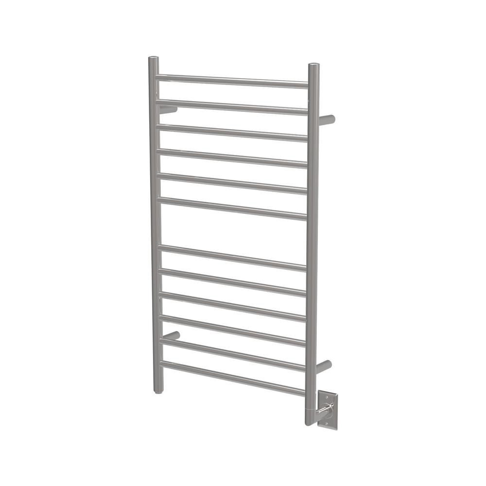 Radiant Large 12-Bar Electric Towel Warmer in Polished Stainless Steel