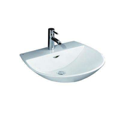 Reserva 550 Wall-Hung Bathroom Sink in White