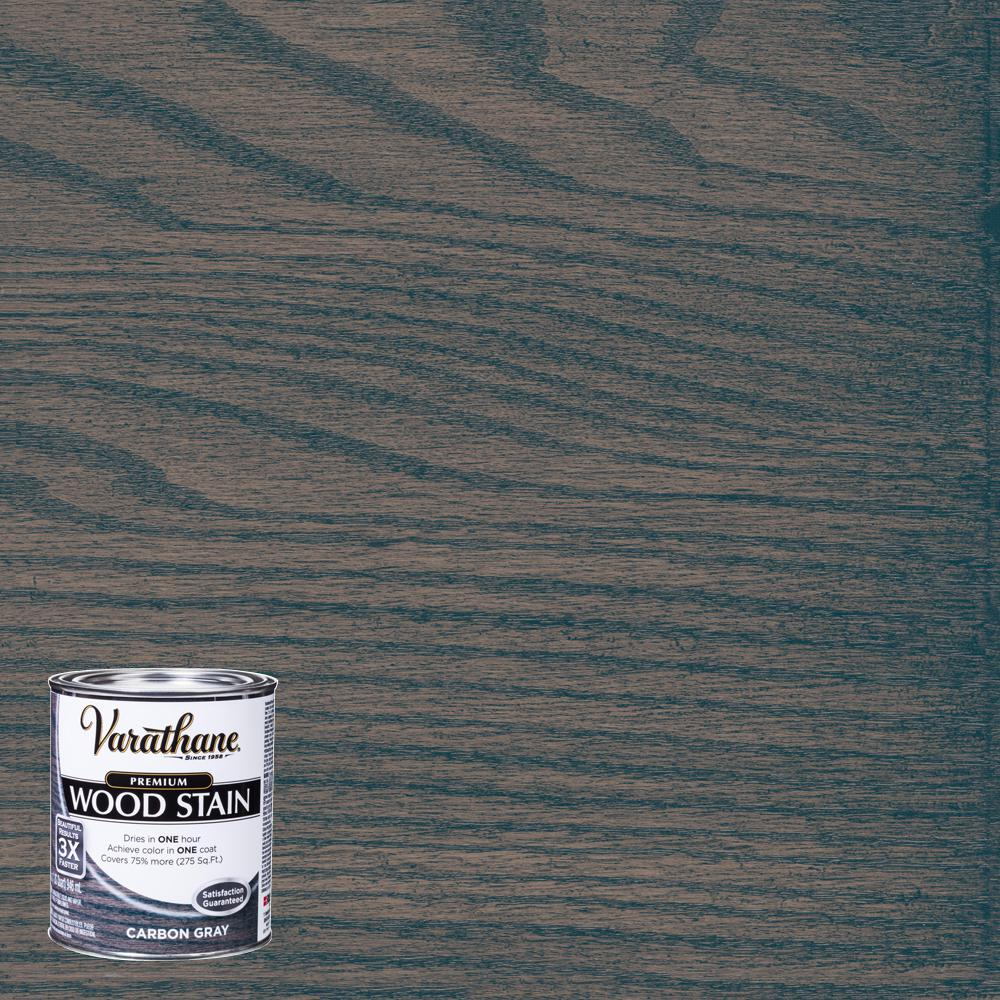 Varathane 1 Qt Carbon Gray Premium Fast Dry Interior Wood Stain 2 Pack