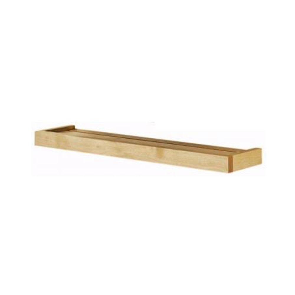 Home Decorators Collection 24 in. x 5.25 in. Natural Euro Floating Wall Shelf