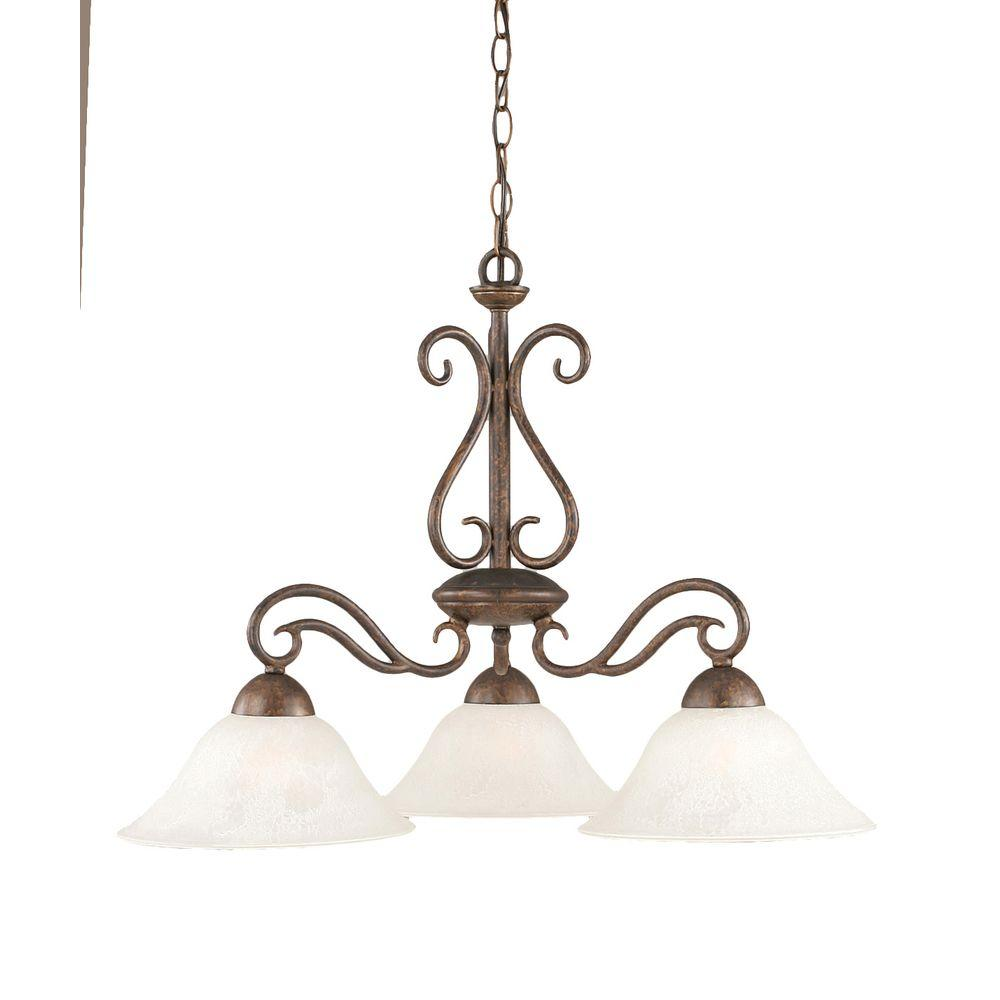 Concord 3-Light Bronze Incandescent Ceiling Chandelier