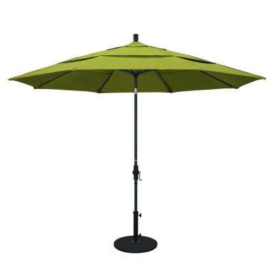 11 ft. Aluminum Collar Tilt Double Vented Patio Umbrella in Ginkgo Pacifica