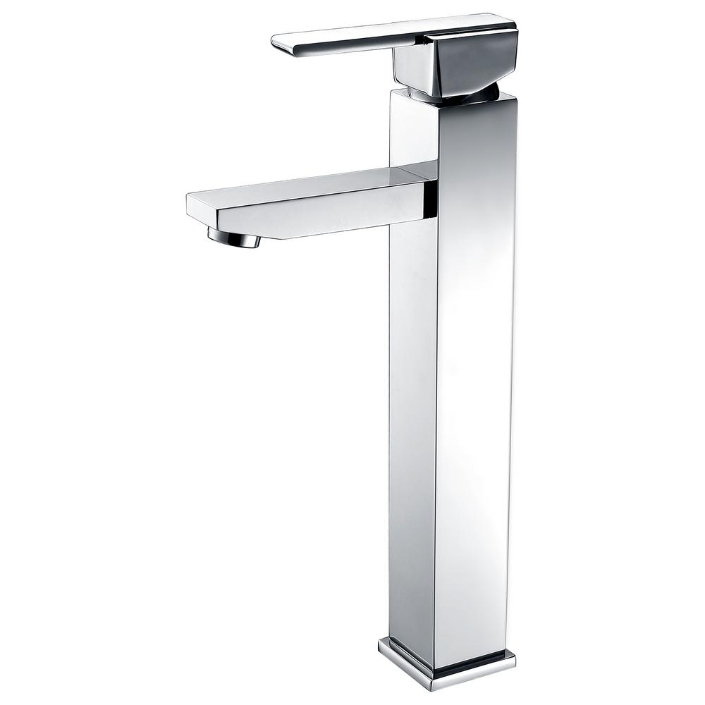 Luxurious Single Hole 1-Handle Lavatory Faucet in Brushed Nickel Finish
