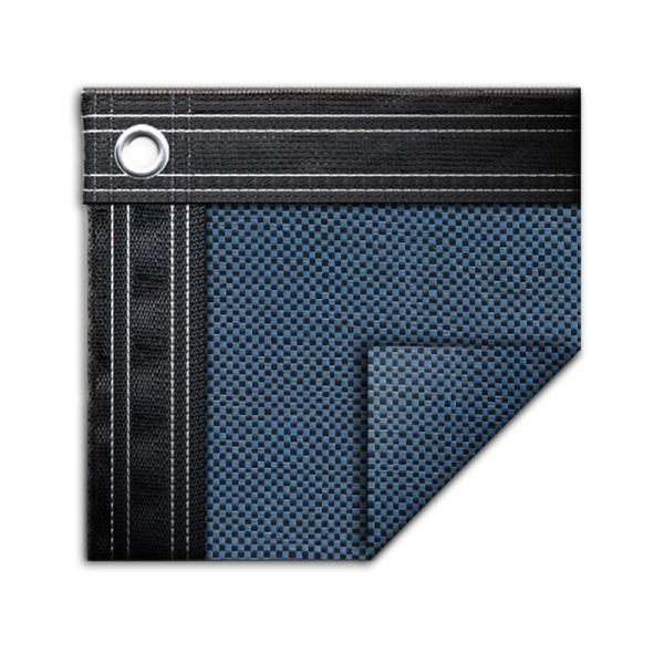 Robelle Premium Mesh Xl 16 Ft X 36 Ft Rectangular Taupe And Black Mesh In Ground Winter Pool Cover 431636r The Home Depot