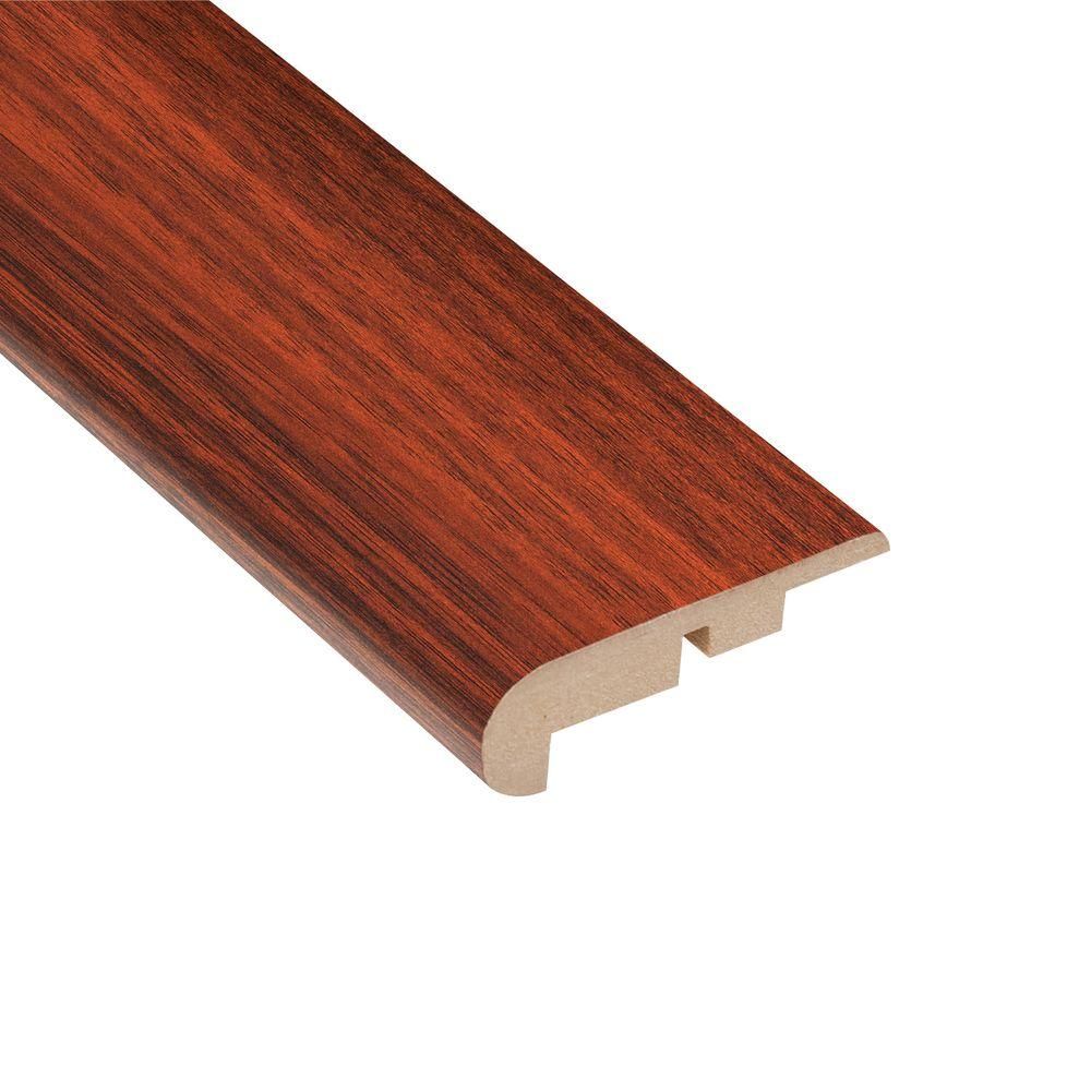 Home Legend High Gloss Brazilian Cherry 7/16 in. Thick x 2-1/4 in. Wide x 94 in. Length Laminate Stairnose Molding