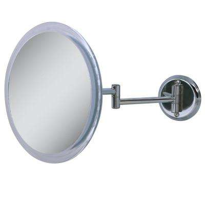 10 in. x 11 in. 5X Wall Makeup Mirror in Chrome